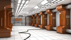 SCIFI Corridor Stock Illustration