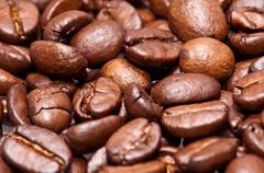 coffee-beans (macro view) - stock photo