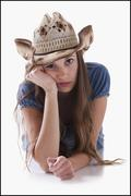 Bored cowgirl Stock Photos