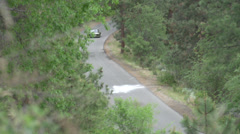 Motorsports, hill-climb, green Golf above follow Stock Footage