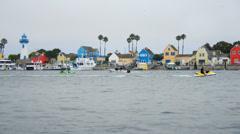 Boats in Marina Del Ray California Stock Footage