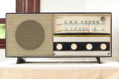 old fashionable radio - stock photo