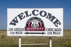 The midway point along route 66 Stock Photos