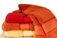 Soft cotton towels Stock Photos