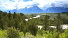 Snake River Overlook Grand Teton National Park, Wyoming, USA Stock Footage