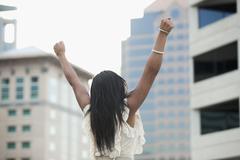 Stock Photo of USA, Utah, Salt Lake City, Young successful businesswoman