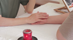 Stock Video Footage of holding hand. spiritual advisor  motivate, explaining, consoling, helpful