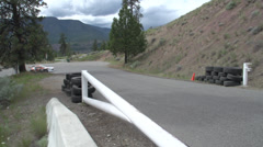 Motorsports, hill-climb, Scion FRS out of hairpin Stock Footage