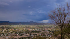 Monsoon storm arriving from the south of Arizona over city of Tucson time lapse Stock Footage