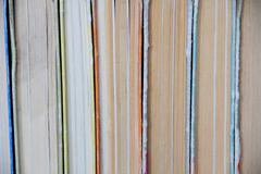 stack old hardcover books - stock photo