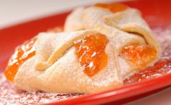 apricot kolache - stock photo