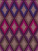 Knit woolen seamless jacquard ornament texture Stock Illustration