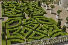 Villandry castle in Val de Loire - stock photo