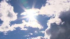 Spacious Sunny Skies Time Lapse Stock Footage