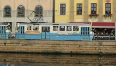 Passing tram in Gothenburg Stock Footage