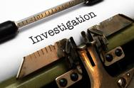 Stock Photo of investigation