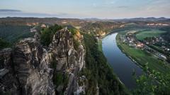 Elbsandsteingebirge timelapse Stock Footage