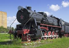 old freight locomotive - stock photo