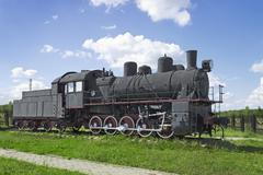 The steam locomotive of soviet production of the 30s - stock photo