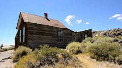 Bodie California - Abandon Mining Ghost Town - Daytime - stock footage