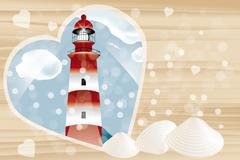 Holiday card with copy space Stock Illustration