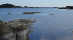 View of Swedish archipelago - stock footage