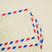 retro look airmail letter - stock photo