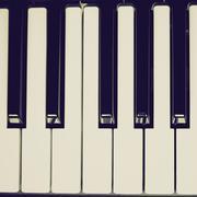 Retro look music keyboard Stock Photos
