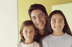 Father and his daughters Stock Photos