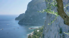 Coastal Cliffs of Monte Castiglione Capri Italy - 29,97FPS NTSC Stock Footage