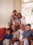 Three generations of family Stock Photos
