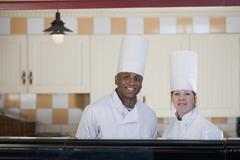 Patisserie chefs - stock photo