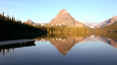 Two Medicine Lake, Glacier National Park, Montana, USA - stock footage