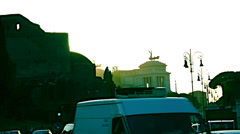 Rome,July 10,2012, Traffic and rush hour in Rome Stock Footage