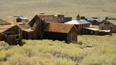 Bodie California - Abandon Mining Ghost Town - Daytime Stock Footage