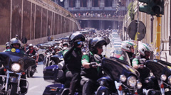 Harley Davidson - 110th anniversary celebrations,colosseum,coliseum Stock Footage