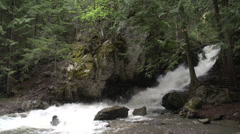 Stock Video Footage of nature, BX falls spring runoff wide shot