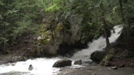 Stock Video Footage of BX falls spring runoff wide shot