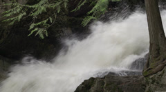 Nature, BX falls spring runoff close up Stock Footage