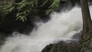 Stock Video Footage of BX falls spring runoff close up