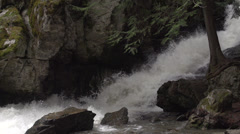 Nature, BX falls spring runoff slo mo Stock Footage