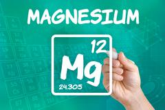 symbol for the chemical element magnesium - stock photo