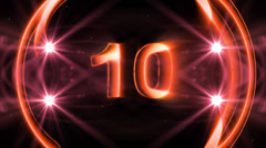 HD Countdown Transition light Stock Footage