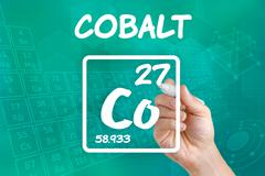 symbol for the chemical element cobalt - stock photo