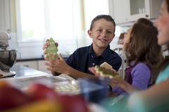 Children baking cookies - stock photo
