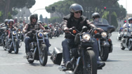 Stock Video Footage of Harley Davidson - 110th anniversary celebrations,colosseum,coliseum