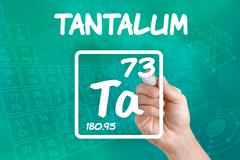 symbol for the chemical element tantalum - stock photo
