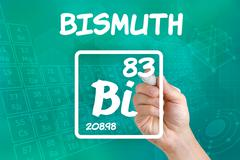 symbol for the chemical element bismuth - stock photo