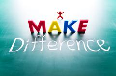 i make difference concept - stock photo