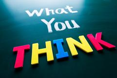 What you think concept Stock Photos
